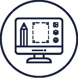 Icon mit einem Monitor