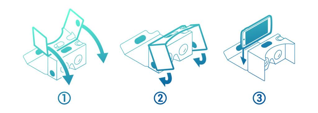 Anleitung wie mein ein Handy ins Cardboard einlegt
