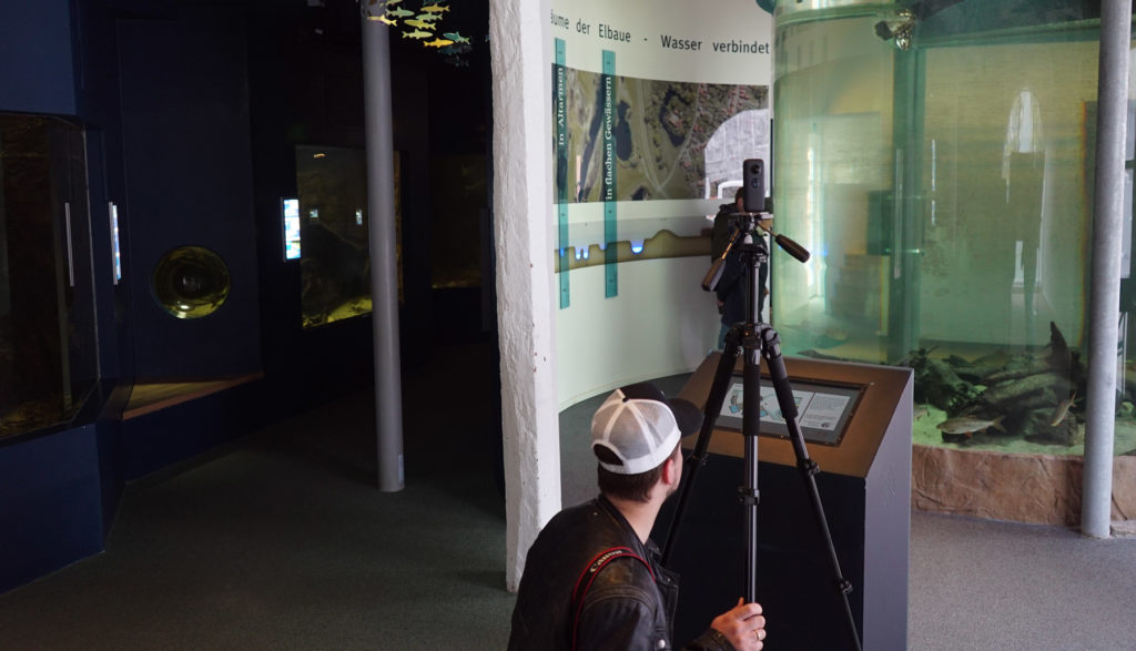 Freddy from mobfish takes 360° pictures in museums.